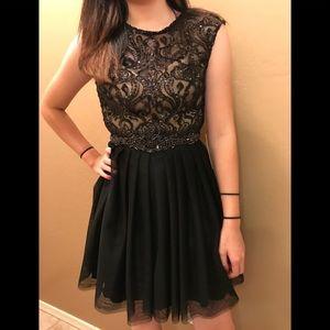 Party black lace dress